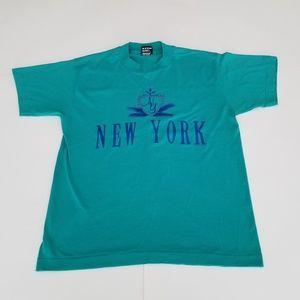 Vintage Shirts - Vintage | NY 90's New York Souvenir Single Stitch